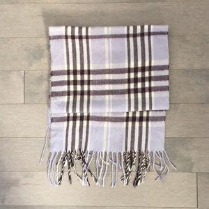 Cashmere plaid scarf
